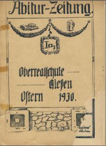 Abi Zeitung 1930